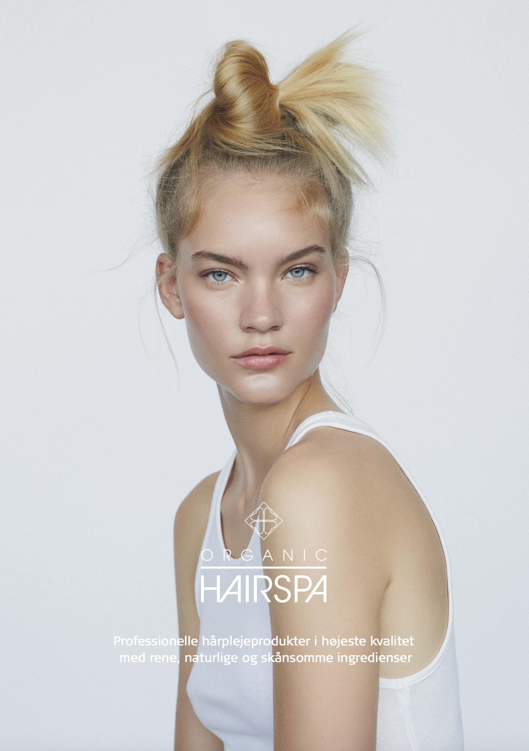 Organic Hairspa brochure artwork