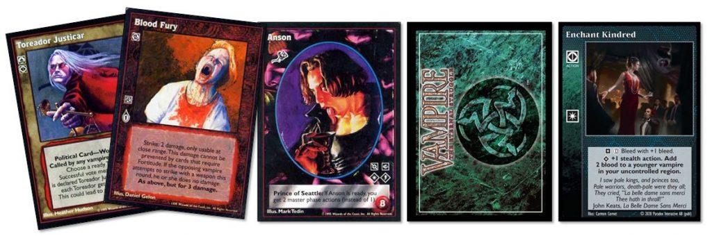 Vampire: The Eternal Struggle cards 01