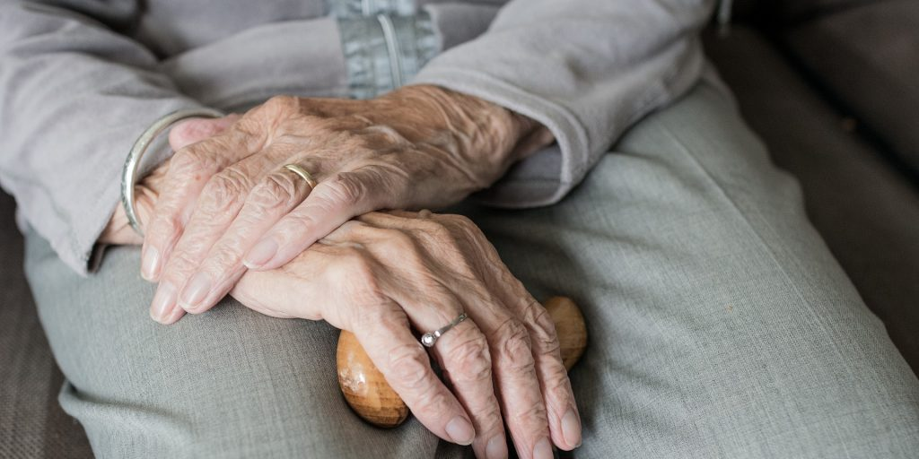 91 årig dam