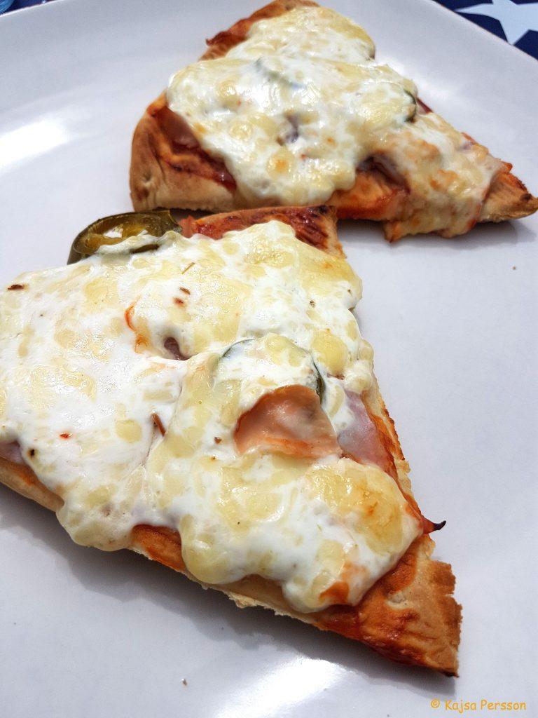 Lätta recpet för lunch pizza