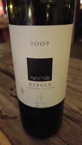 orange vin, Mlecnik - Rebula