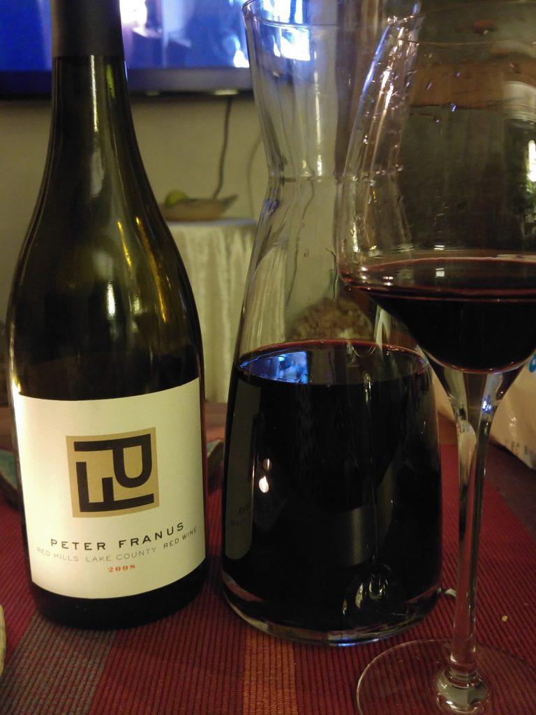 Peter Franus - Red Hills Lake county red wine 2008 / amerikanska viner