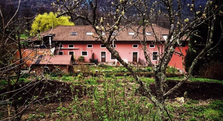 Hisa Franko, strax utanför Kobarid i Slovenien