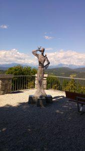 Fantasitsk utsikt i Vipava, Slovenien