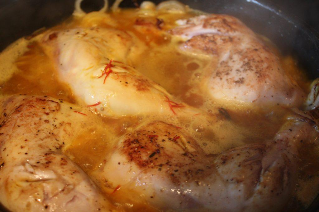 Kyckling på stekjärnet