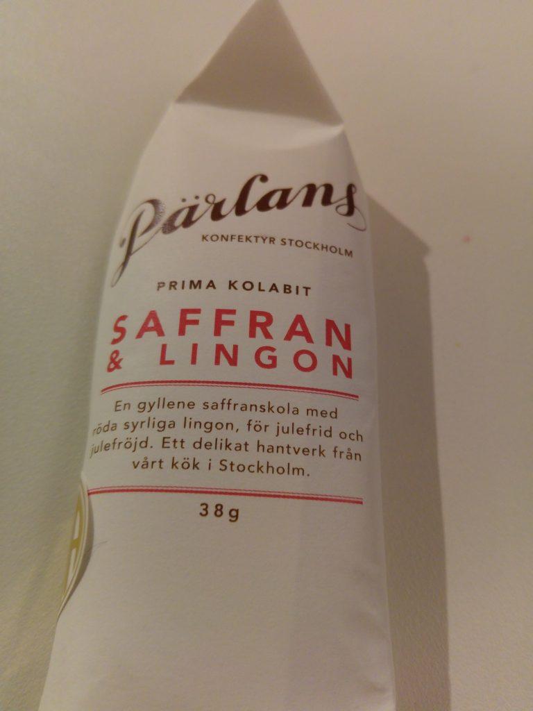 Pärlans konfektyr Saffran & Lingon kola