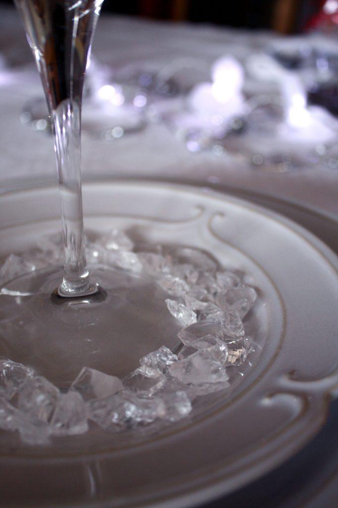Som vita iskristaller som en fin detalj när vi bjuder på årets nyårsmeny