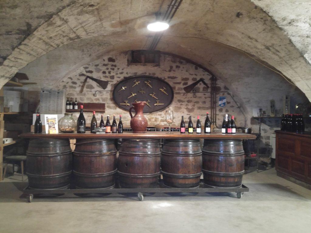 Domaine Chateau de Grand Pre provningsrum, Beaujolais