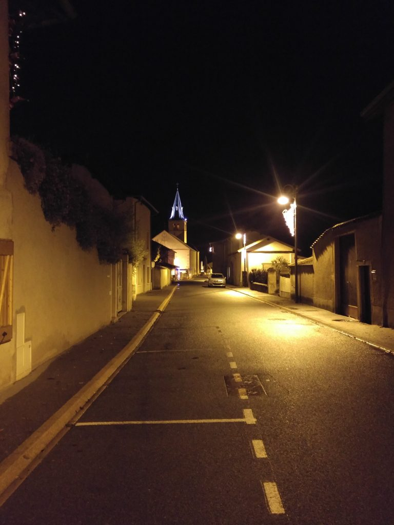 Corcelles en beaujolais by night, Beaujolais