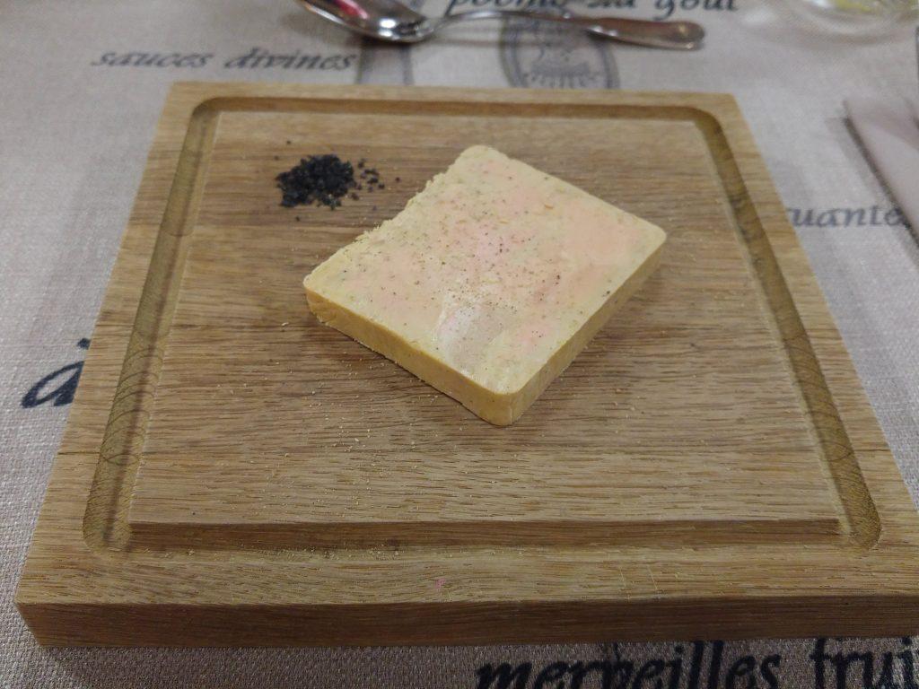 Foie Gras med svart salt