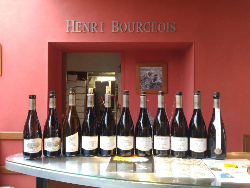 Trevlig provning av Henri Bourgeois viner