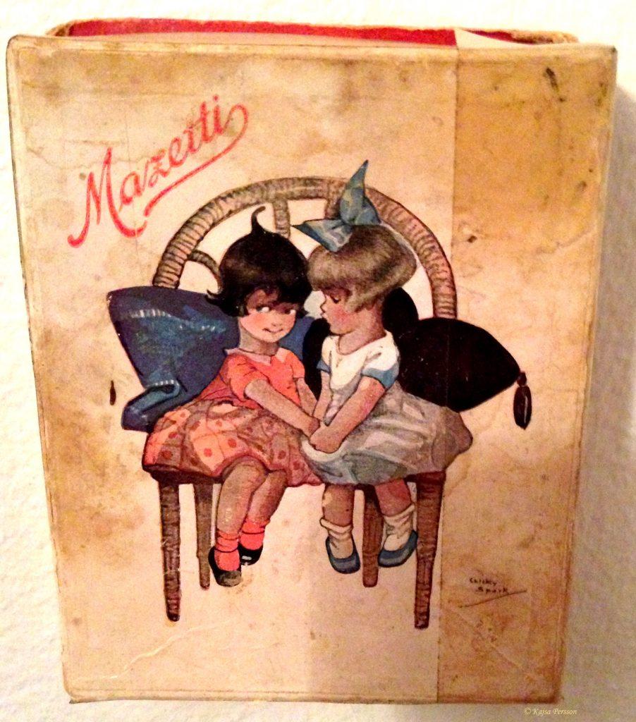 Äldre chokladask från Mazetti