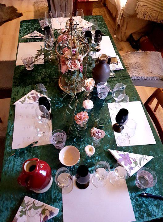 Lånad bild -Fantastisk vacker dukning av Catarina på Kreativt bord & blomster på vår tjejmiddag