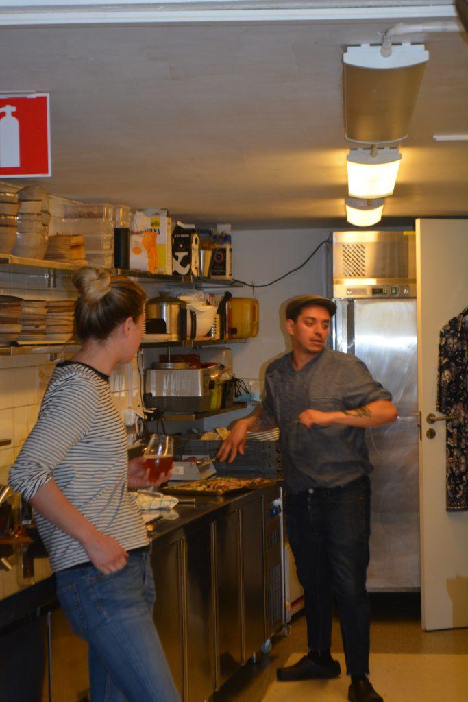 Här har ni kocken själv, Francisko, tillsammans med kocken från Bord 27.