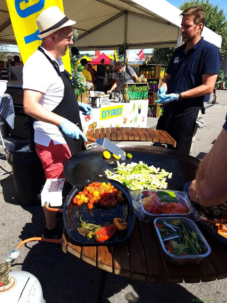 Grillade grönsaker på matfestival i Brösarp 2018