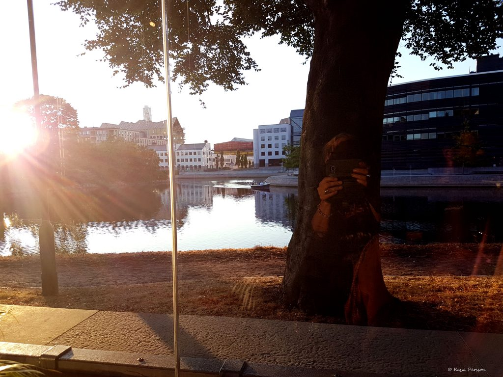 Solnedgång vid Malmö kanal
