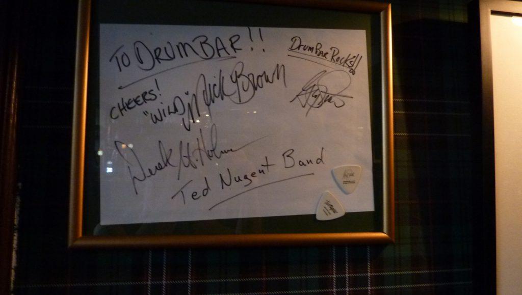Drumbar har besökts av lite kändisar ted Nugent band