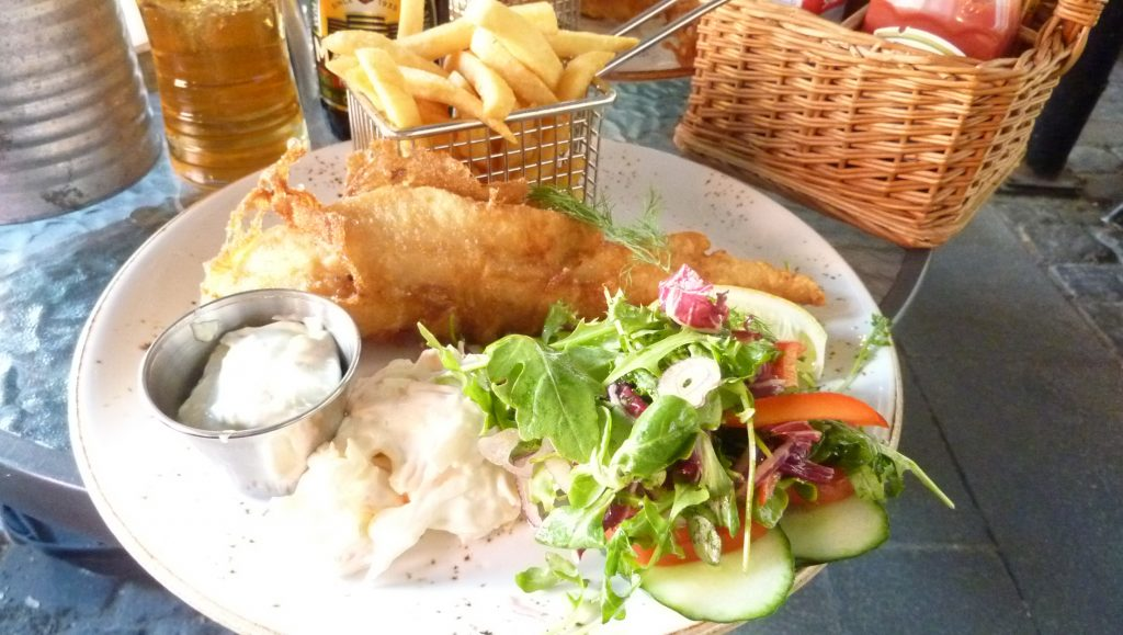 Fish and chips the scottish way på Drumbar