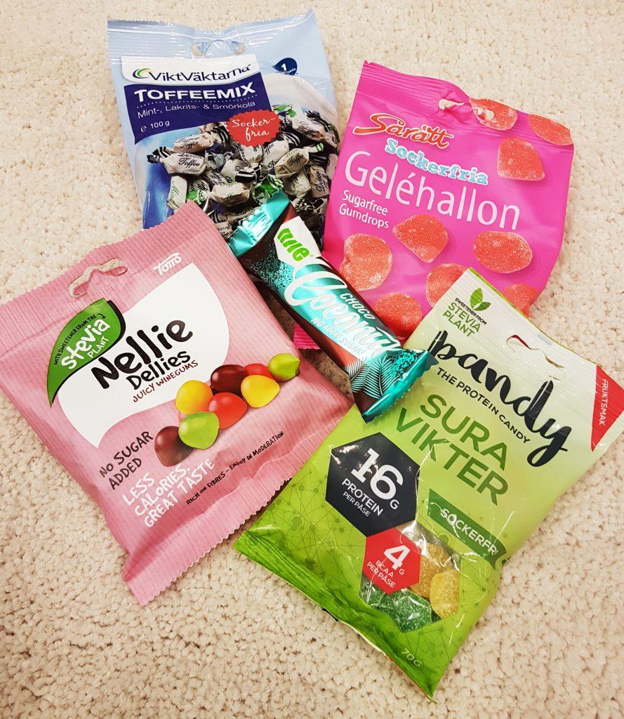 Variationer av sockerfritt godis