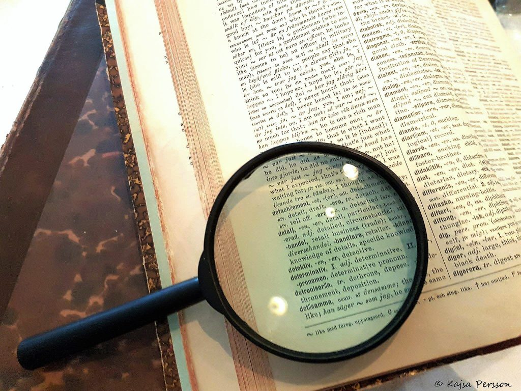 Ordet detektiv i ordboken