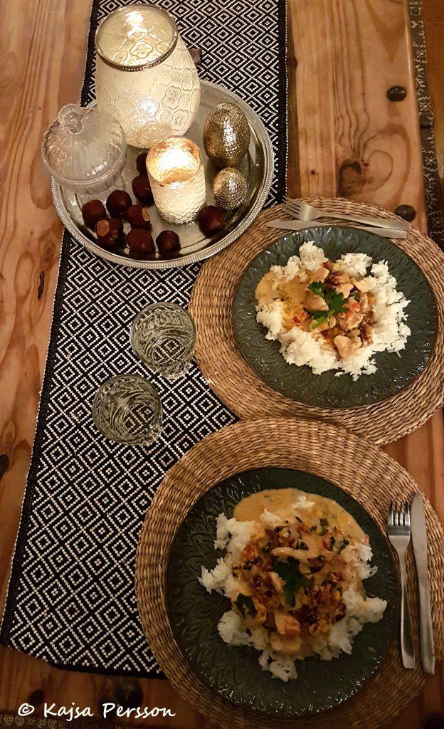 Olivieras kycklingragu med ris till dagens middagstips
