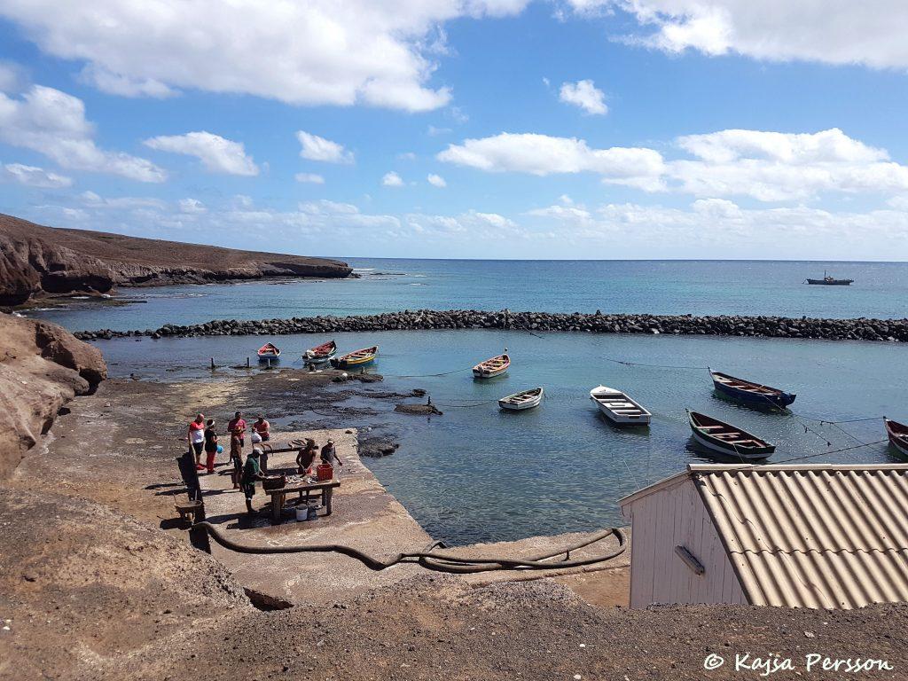Fiskeläger på ön Sal, Kap Verde
