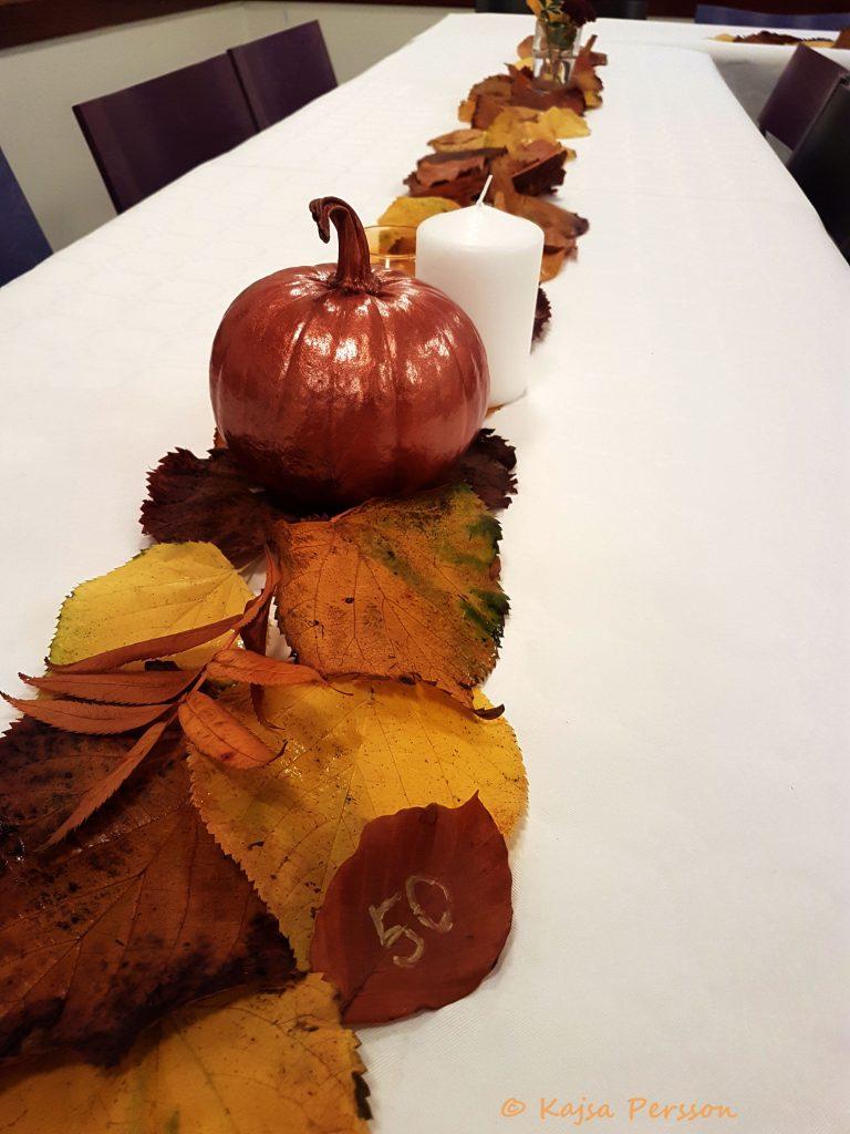 DIY dukning i höstens färger