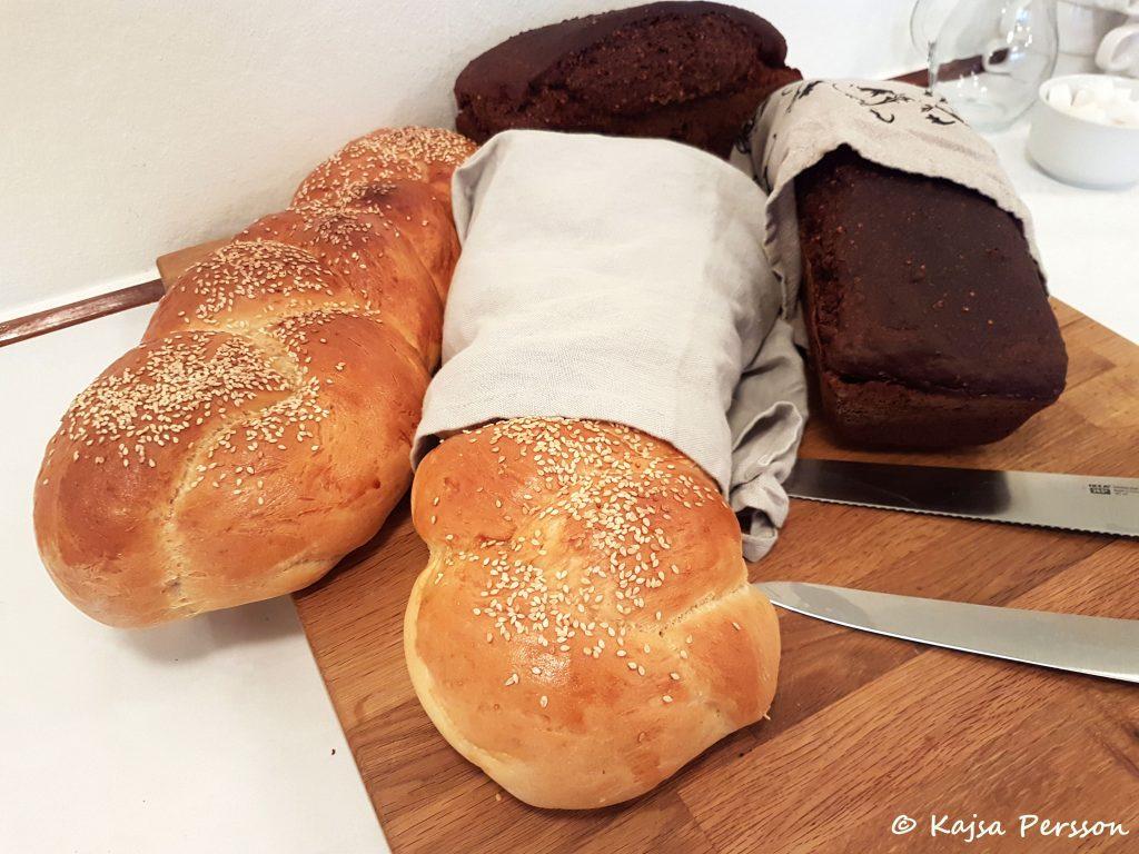 Två ljuvlig bröd till brunchbordet och två fina brödrecept att gå efter