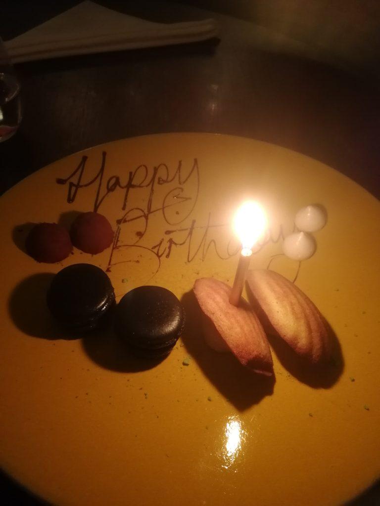 Födelsedag på Texture, stjärnrestaurang i London