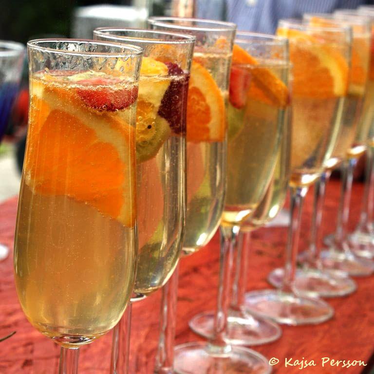Flestplanering kan innehålla vad som ska drickas t.ex välkomstdrink