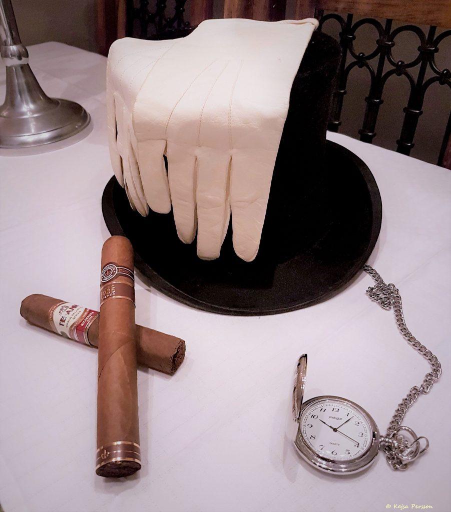 Detaljer på bordet till en Herrfrukost