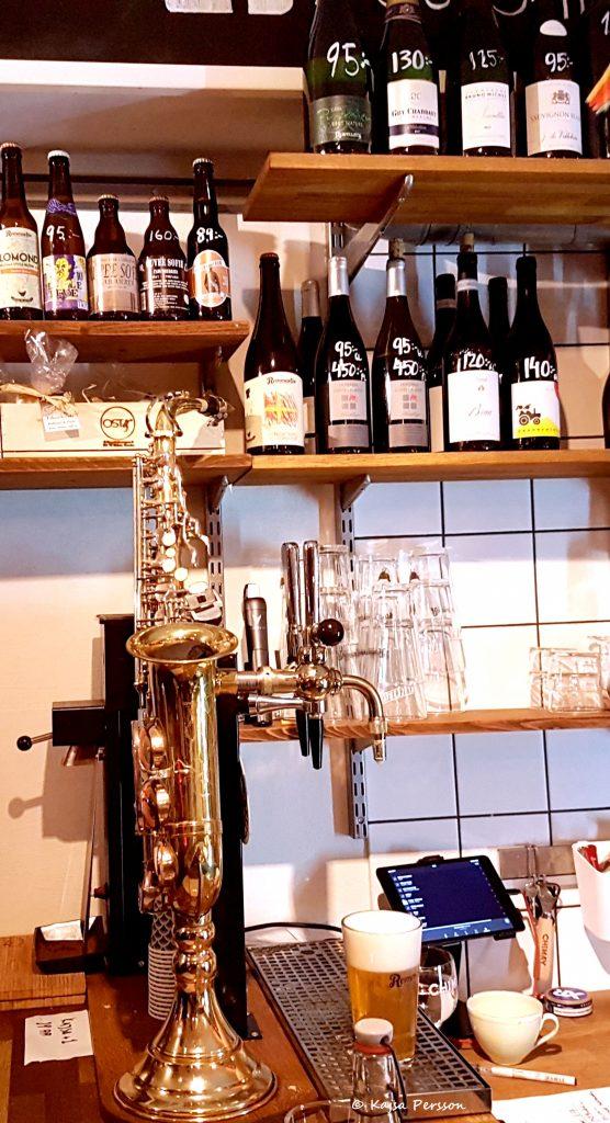 Ölpump i form av en Saxofon