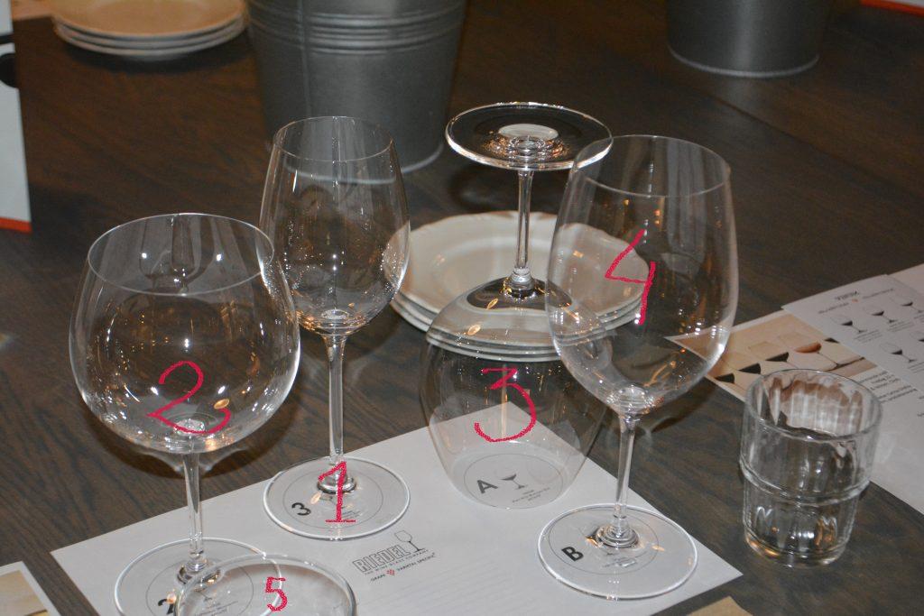 Glasprovning med olika glas
