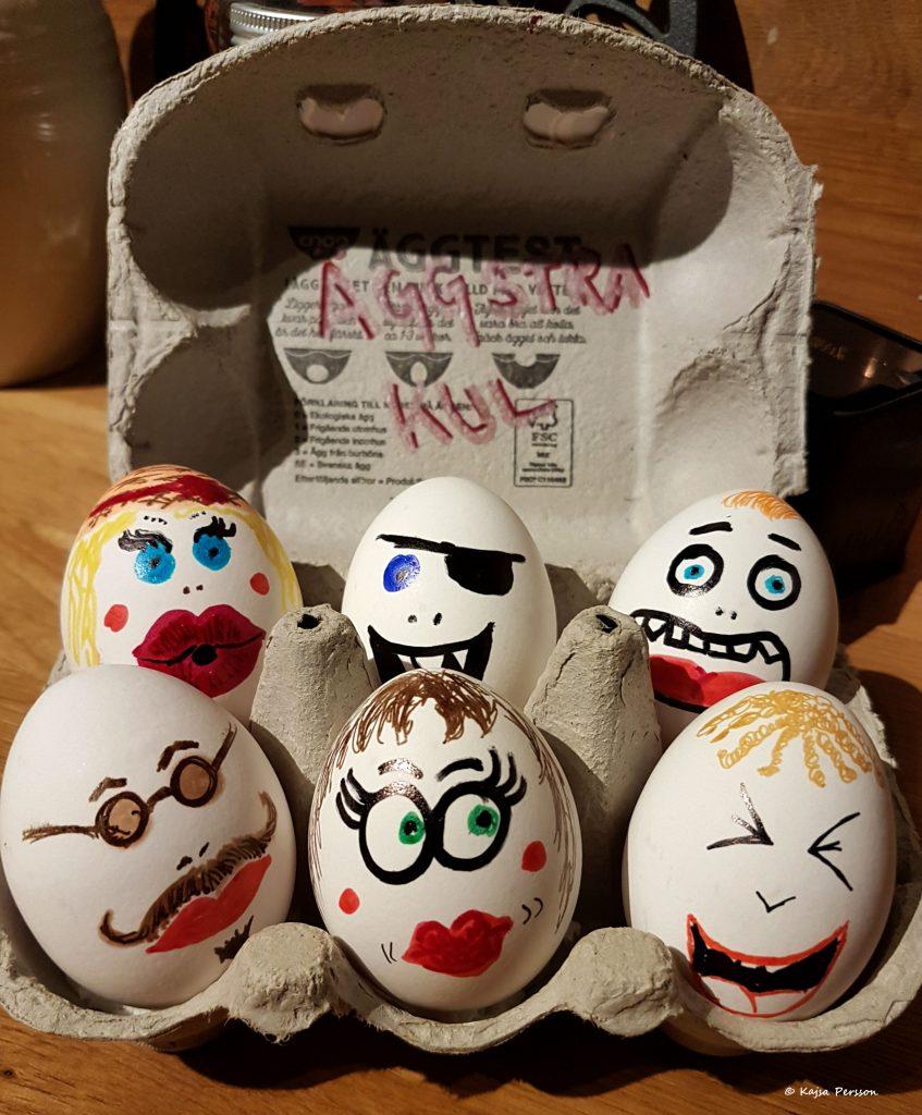 Målade ägg