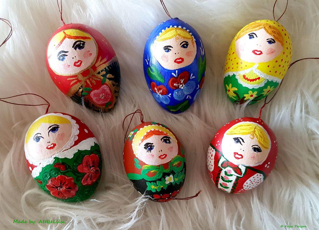 Handmålade ägg