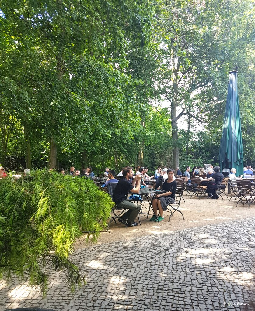 Biergarten i Tiergarten Berlin