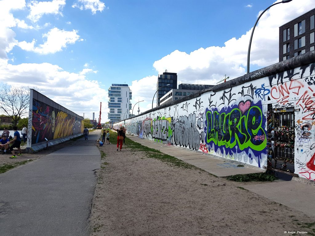 Mellan murarna i Berlin, East side Gallery