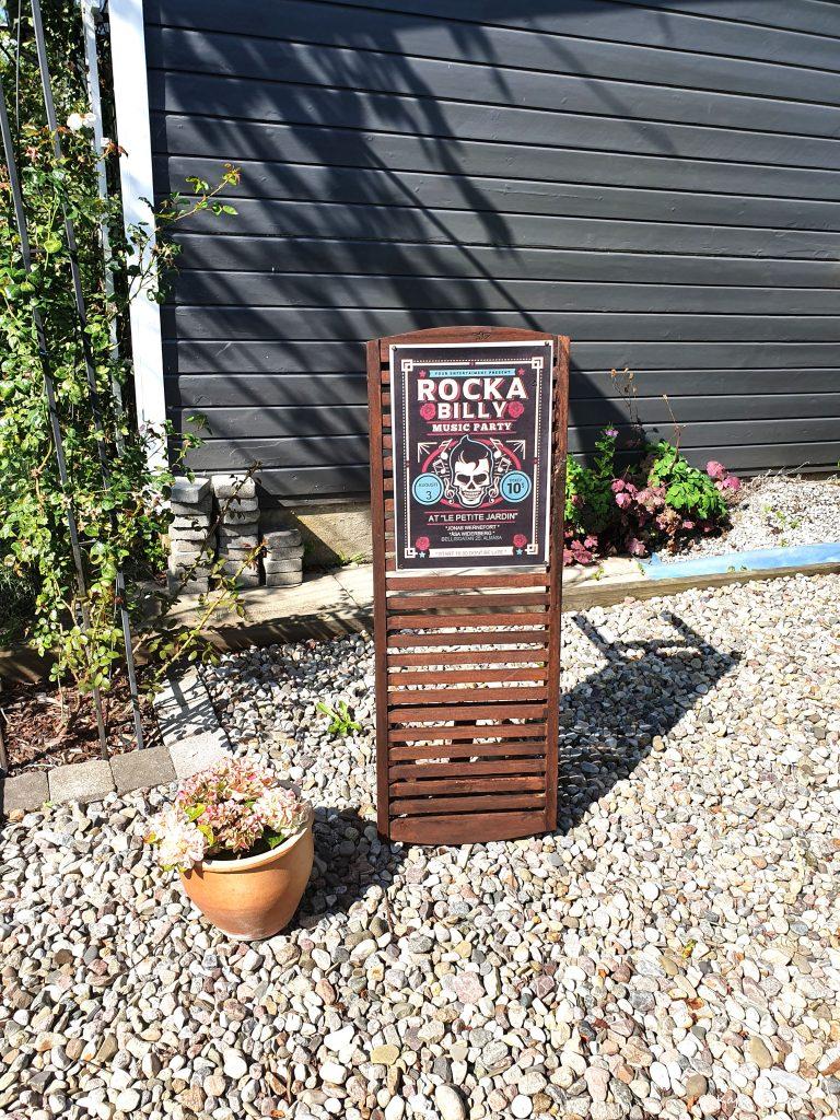 Rockabilly trädgårdsfest poster