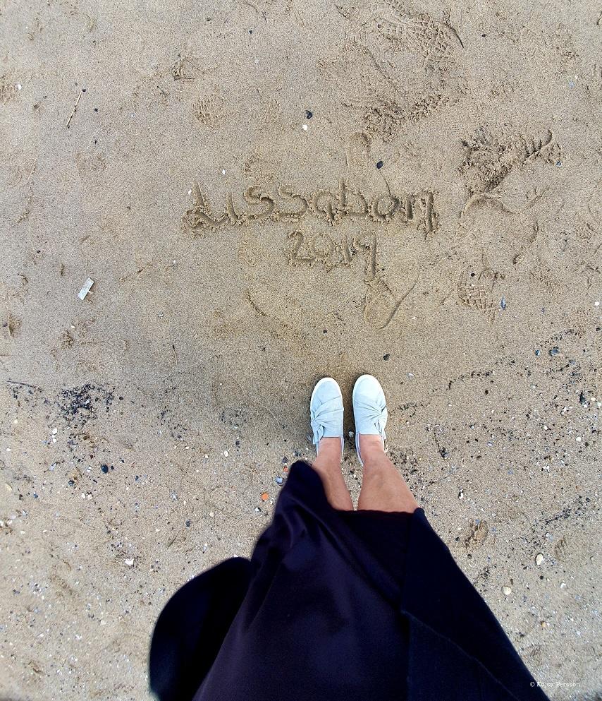 Lissabon 2019 skrivit i sanden