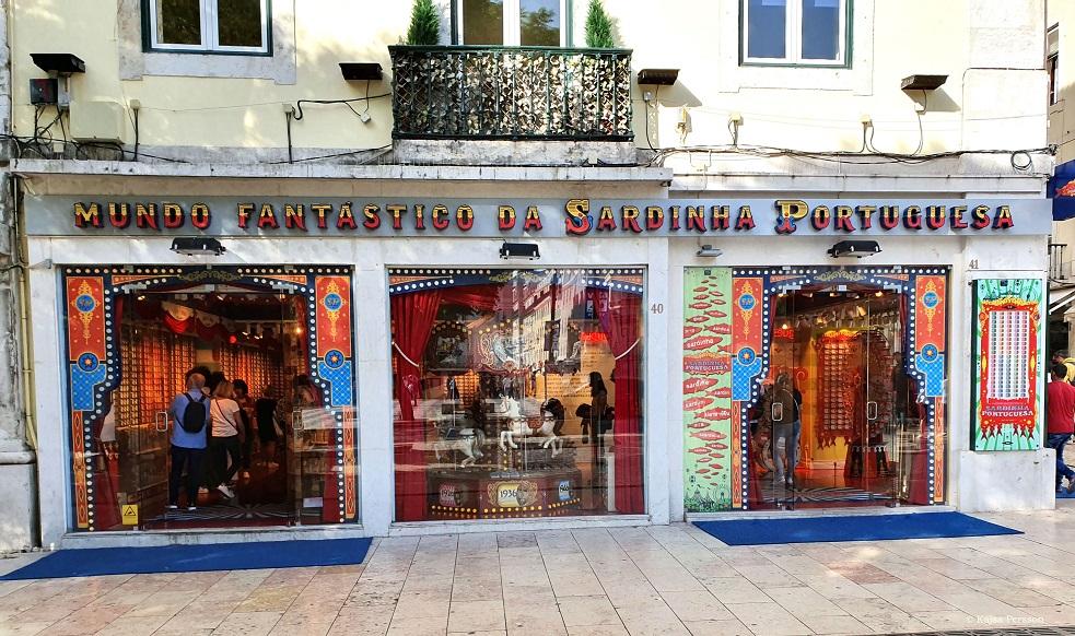 Sardinbutik i Lissabon