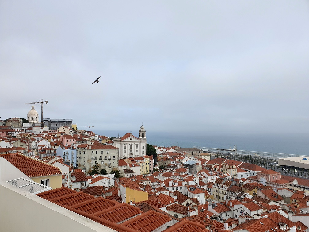 Utsikt från ev av Lissabons Miradous