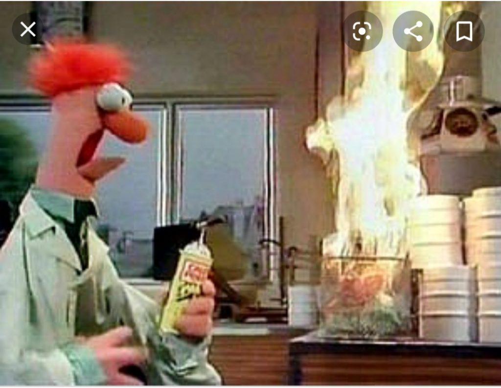 Kök som brinner