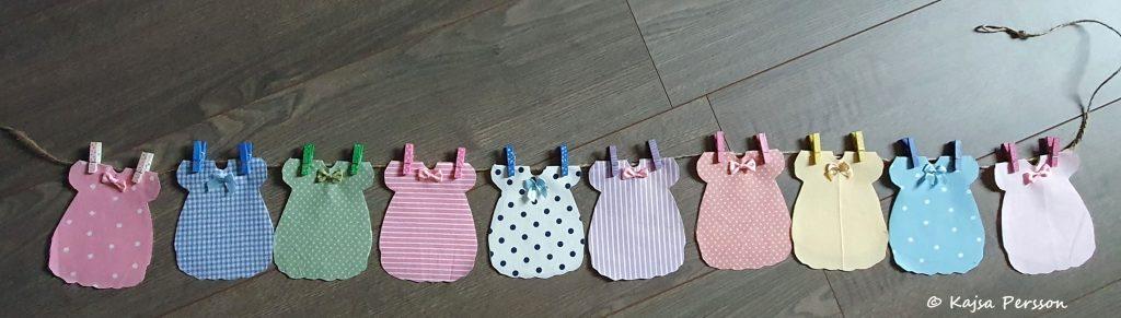 Babyklänning vimpel för en Babyshower