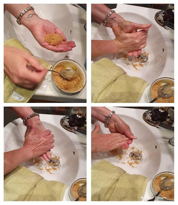 Handpeeling med doft av kanel till ditt hemma spa