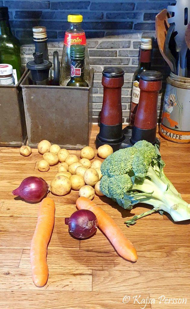 Goda grönsaker till maten