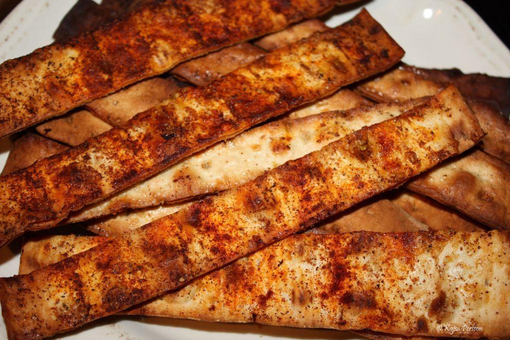 Lätta helgsnacks i form av tunnbrödschips