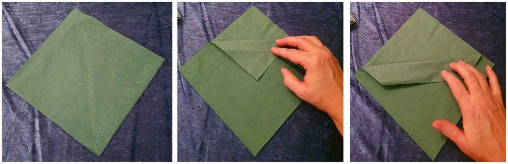 Hur man startar att vika en servett med en bestickficka