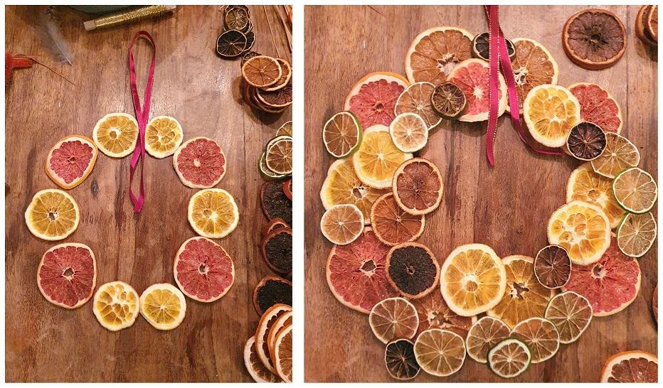 Torka apelsiner, lägg ut på bordet i en ring och fundera på slutresultatet