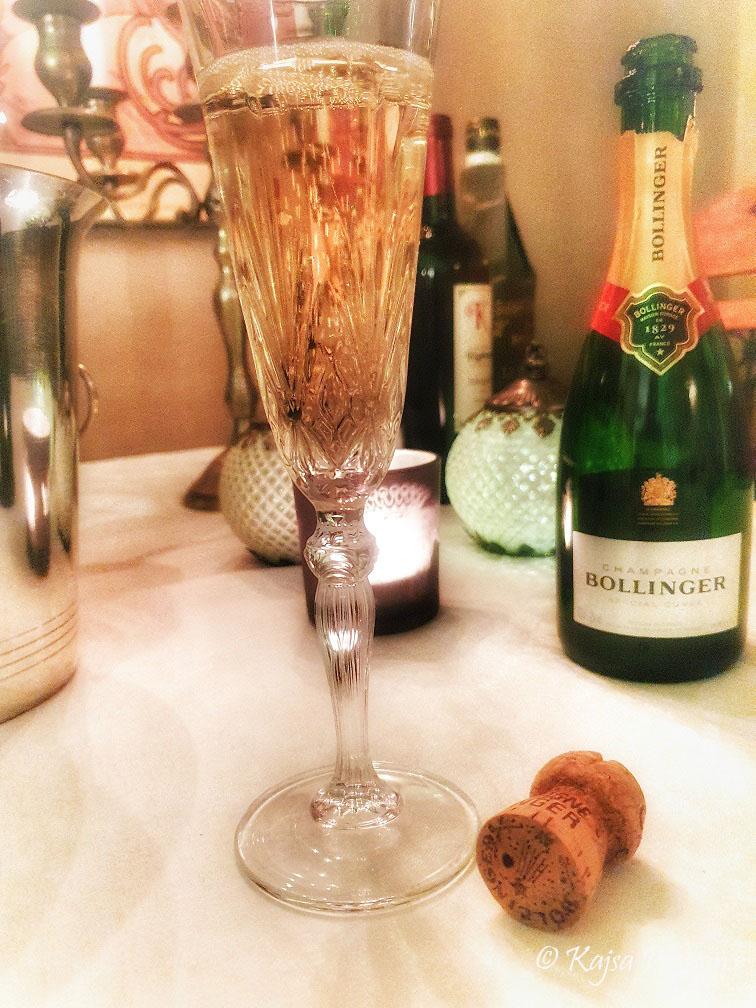 Bollinger champagne i ett glas