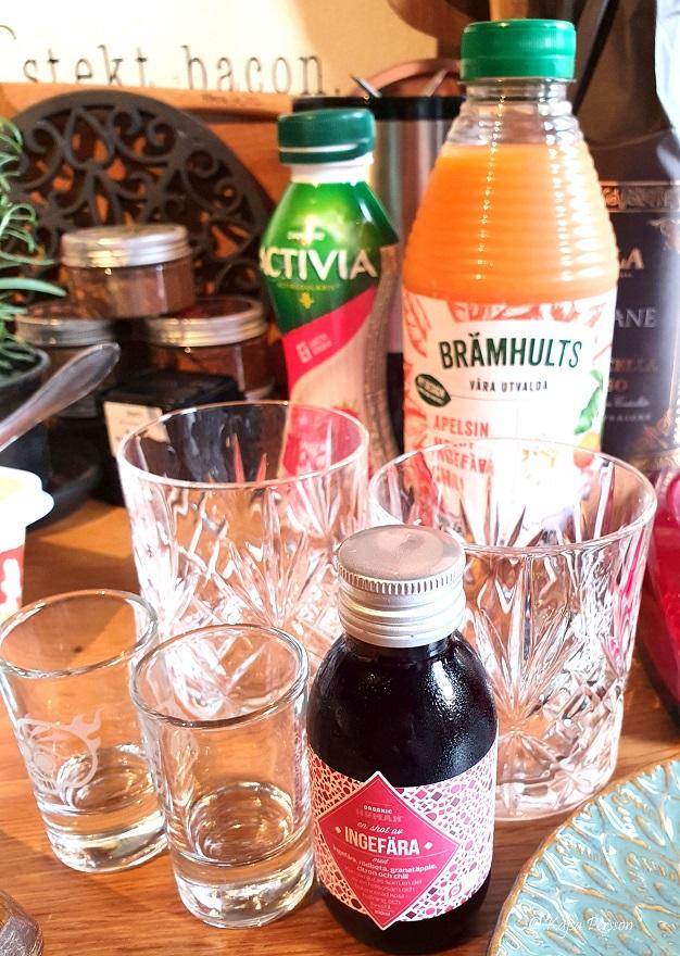 juice och energi boost till brunchen